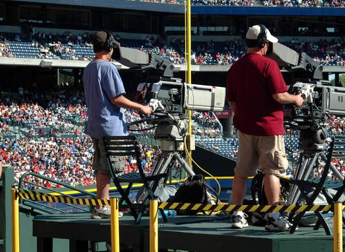 live broadcast cameramen